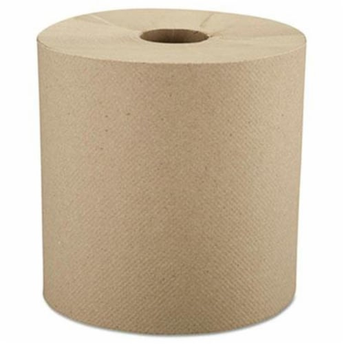 Windsoft Hardwound Roll Towels, 8  X 800 Ft, Natural, 6 Rolls/Carton 12806 Perspective: front
