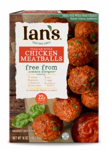 Ian's Gluten Free Italian Style Chicken Meatballs Perspective: front