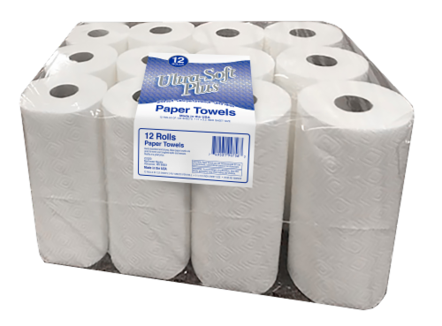 Ultra Soft Paper Towels 12 Count Perspective: front