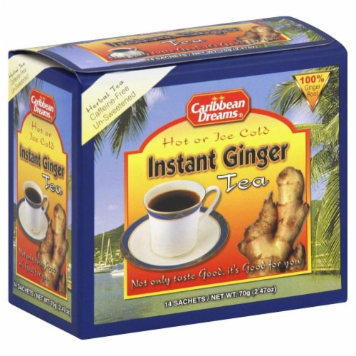 Caribbean Dreams Instant Ginger Tea Perspective: front