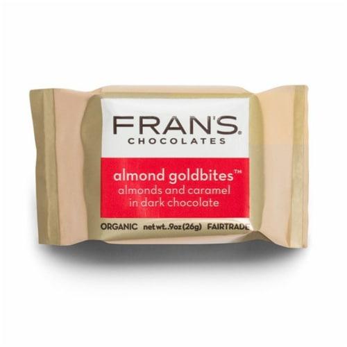 Fran's Chocolates Dark Chocolate Almond Gold Bites Perspective: front