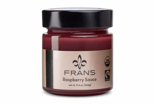 Fran's Chocolates Raspberry Topping Sauce Perspective: front