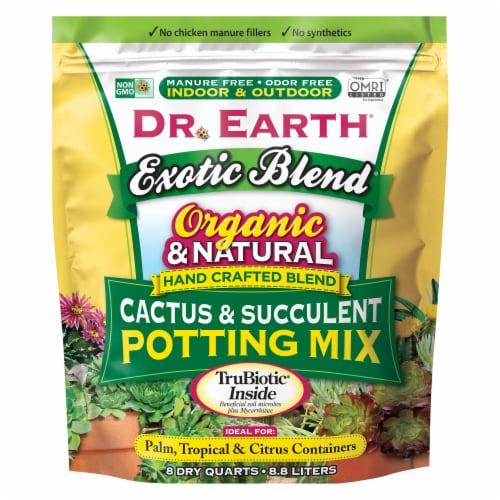 Dr. Earth® Exotic Blend Cactus & Succulent Blend Potting Soil Perspective: front