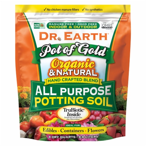Dr. Earth® Pot of Gold All Purpose Potting Soil Perspective: front