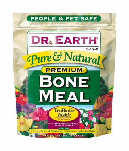 Dr. Earth Pure & Natural Organic Bone Meal 2.5 lb. - Case Of: 1; Perspective: front