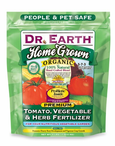 Dr. Earth® Home Grown Organic Tomato Vegetable & Herb Fertlizer Perspective: front
