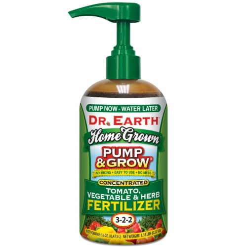 Dr. Earth® Pump & Grow Tomato Vegetable & Herb Fertilizer Perspective: front
