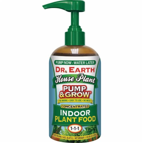 Dr. Earth Pump & Grow 16 Oz. House Plant Concentrated Liquid Plant Food 1084 Perspective: front