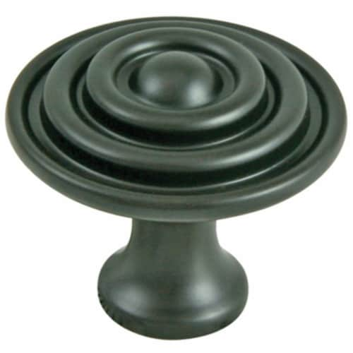 Ultra 1-.50in. Round Oil Rubbed Bronze Designers Edge Cabinet Knob  41876 Perspective: front