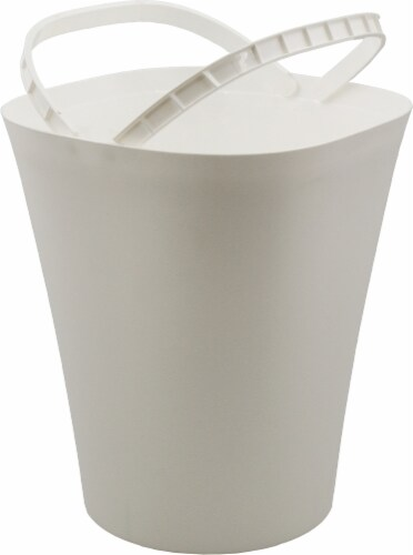 Glad Deco Waste Bin with Bag Ring - White Perspective: front