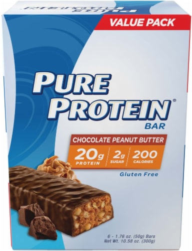 Pure Protein Chocolate Peanut Butter Protein Bars Perspective: front