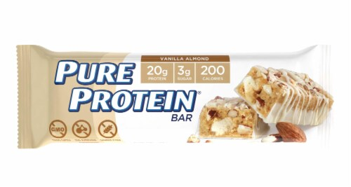 Pure Protein Vanilla Almond Protein Bar Perspective: front