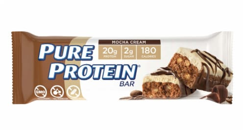 Pure Protein Mocha Cream Protein Bar Perspective: front
