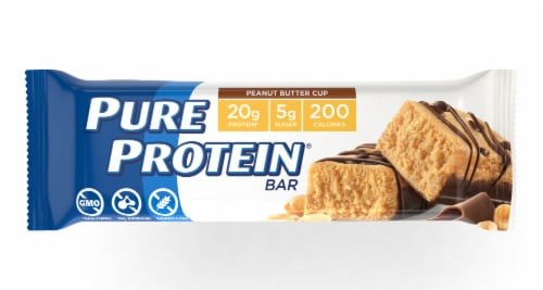 Pure Protein Peanut Butter Cup Protein Bar Perspective: front
