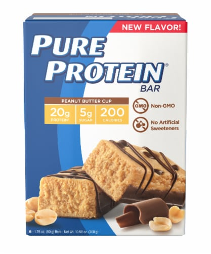 Pure Protein Peanut Butter Cup Bar Perspective: front