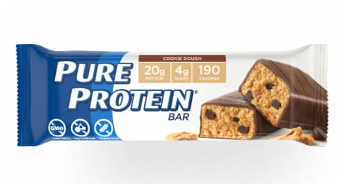 Pure Protein Cookie Dough Protein Bar Perspective: front