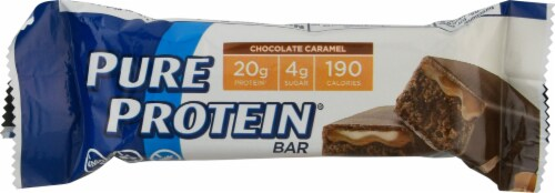 Pure Protein Chocolate Caramel Protein Bar Perspective: front