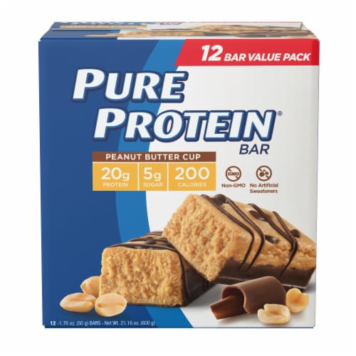 Pure Protein Peanut Butter Cup Bars Perspective: front