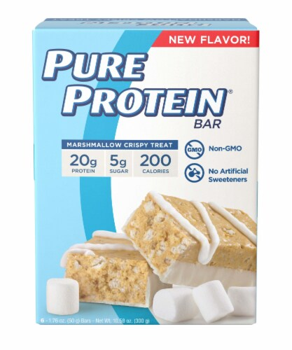Pure Protein Marshmallow Crispy Treat Bars Perspective: front