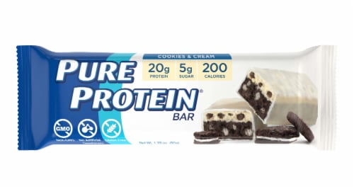 Pure Protein Cookies & Cream Bar Perspective: front