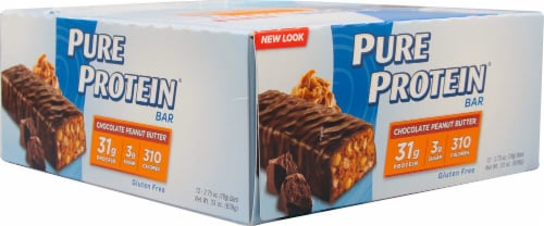 Worldwide Sports Nutrition  Pure Protein Bar   Chocolate Peanut Butter Perspective: front
