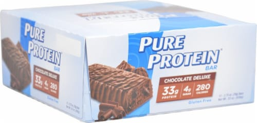 Worldwide Sports Nutrition  Pure Protein Bar   Chocolate Deluxe Perspective: front
