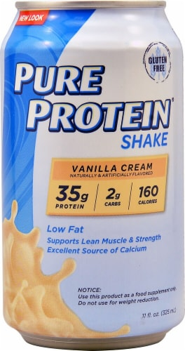 Worldwide Sports Nutrition  Pure Protein™ Shake   Vanilla Cream Perspective: front