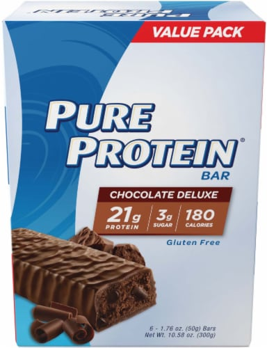 Pure Protein Chocolate Deluxe Protein Bars Perspective: front