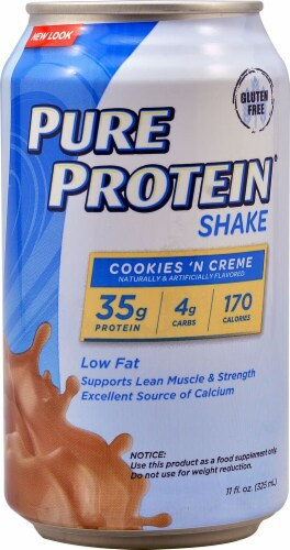 Worldwide Sports Nutrition  Pure Protein™ Shake   Cookies & Creme Perspective: front