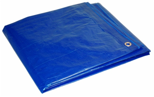 Foremost Tarp Co. Dry Top Poly Tarp - Blue Perspective: front