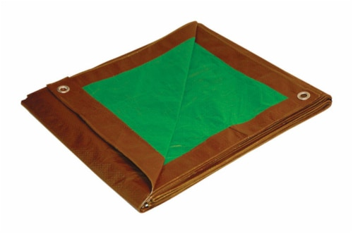 Foremost Tarp Co. Dry Top Tarp - Brown / Green Perspective: front
