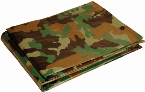 Foremost Tarp Co. Dry Top Heavy-Duty Reversible Tarp - Camouflage Perspective: front