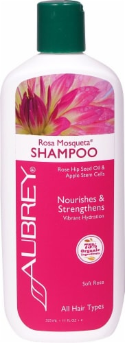 Aubrey Rosa Mosqueta Nourishes & Strengthens Soft Rose Shampoo Perspective: front