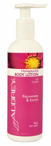 Aubrey Honeysuckle Body Lotion with CoQ10 Perspective: front