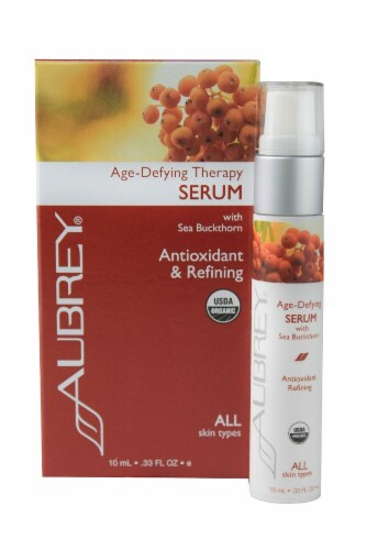 Aubrey  Organic Age-Defying Therapy Serum with Sea Buckthorn Perspective: front