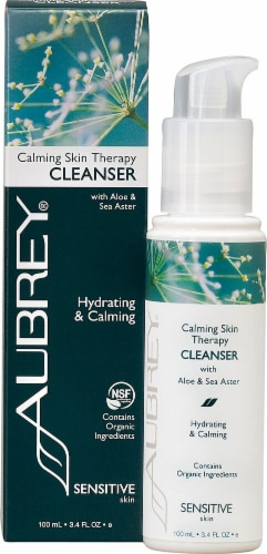 Aubrey Organics Calming Skin Therapy Cleanser Perspective: front