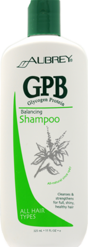 Aubrey Organics GPB Balancing Glycogen Protein Shampoo Perspective: front