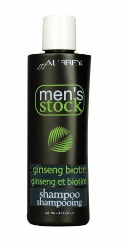Aubrey Organics Men's Stock Ginseng Biotin Shampoo Perspective: front