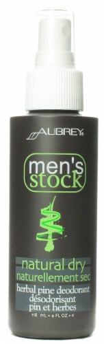 Aubrey Organics Natural Dry Pine Deodorant Spray Perspective: front
