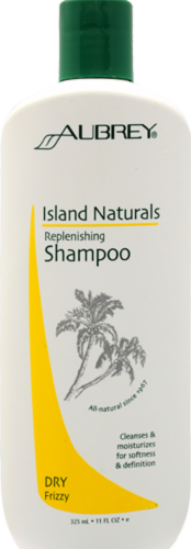 Aubrey Organics Island Naturals Replenishing Shampoo for Dry Hair Perspective: front