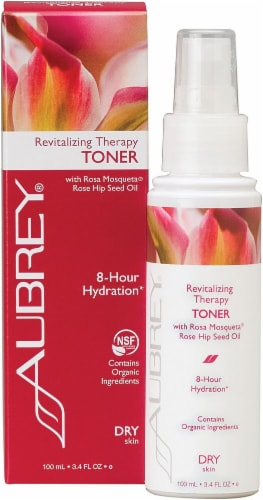 Aubrey Organics Revitalizing Therapy Toner with Rosa Mosqueta Rose Hip Seed Oil Perspective: front