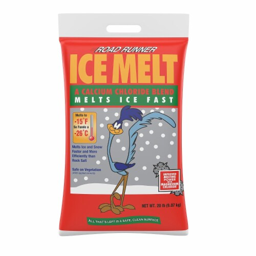 Road Runner Sodium Chloride, Calcium Chloride and Magnesium Chloride Pellet Ice Melt 20 lb. - Perspective: front
