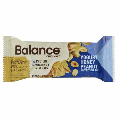 Balance Original Yogurt Honey Peanut Nutrition Bar Perspective: front