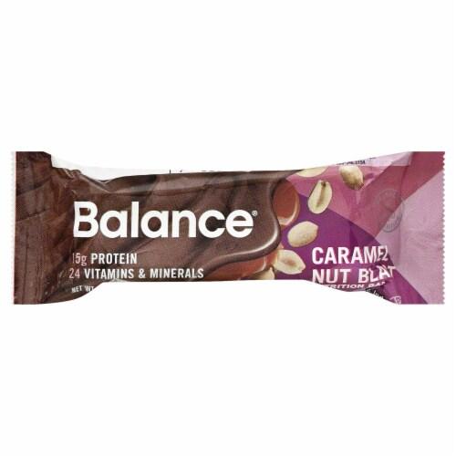 Balance Caramel Nut Blast Nutrition Bar Perspective: front
