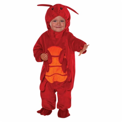 Lobster Happy Hoodie Toddler Costume, Size 3T-4T Perspective: front