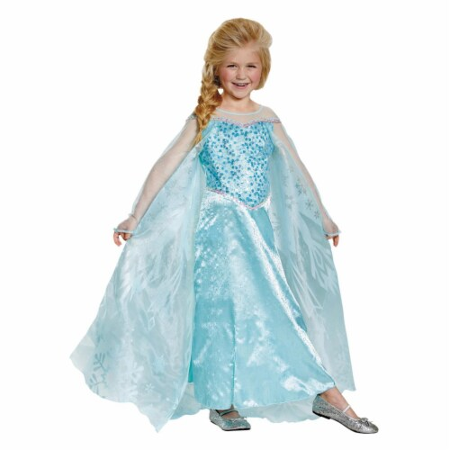 Frozens Elsa Prestige Toddler Costume, Size 3T-4T Perspective: front