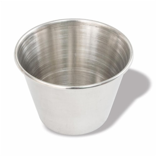 2.5 oz Sauce Cup - Stainless Steel Perspective: front