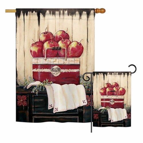 G167046-BO Ruby Red Country Apple Food Fruits Impressions Decorative Vertical 13 x 18.5 in. D Perspective: front