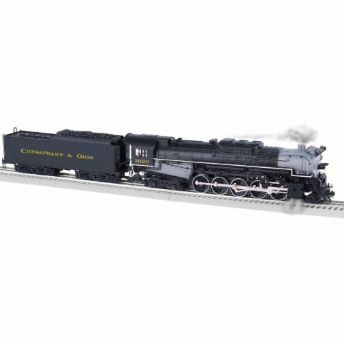 Lionel LNL1931690 O BTO T1 C & O, Weathered No.3020 Model Train Perspective: front