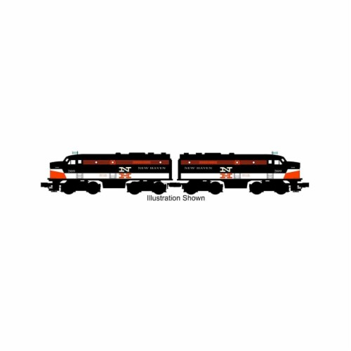 Bachmann BAC20092 New Haven No.209 O-27 ALCO FA-2 Powered A & Dummy Locomotive Model Train Se Perspective: front